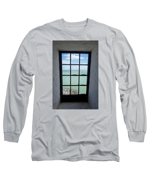 The View From The Lighthouse Window Bill Baggs Lighthouse Key Biscayne Florida Long Sleeve T-Shirt