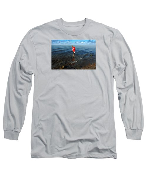 The Water's Fine Long Sleeve T-Shirt by Lena Wilhite