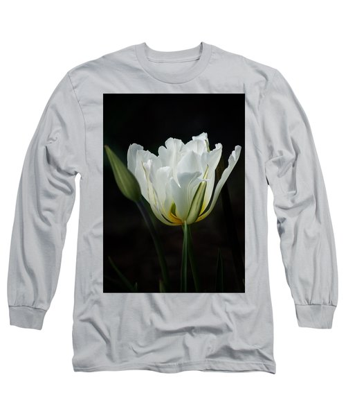 The White Tulip Long Sleeve T-Shirt by Richard Cummings