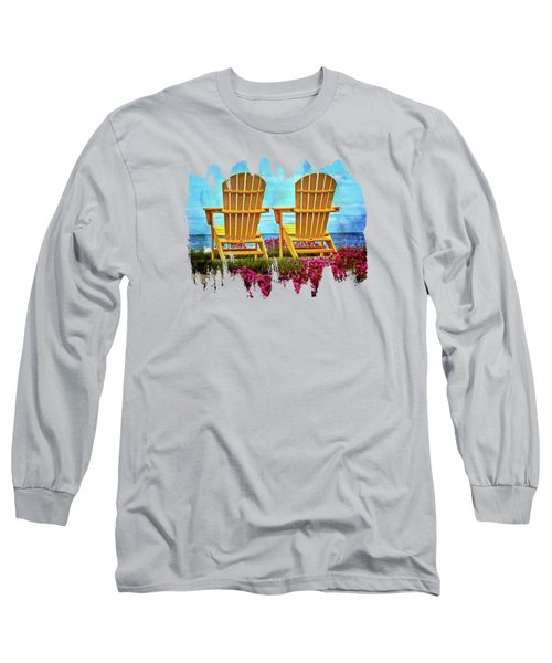 Relaxing By The Sea Long Sleeve T-Shirt
