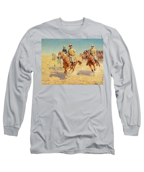 Theodore Roosevelt And The Rough Riders Long Sleeve T-Shirt