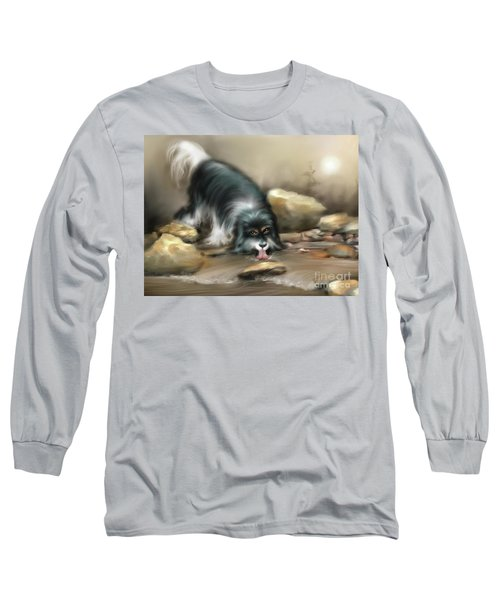 Long Sleeve T-Shirt featuring the painting Thirsty by S G