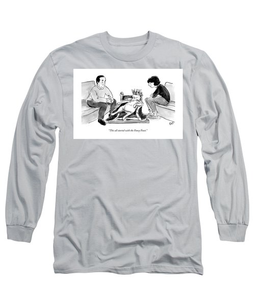 This All Started With The Fancy Feast Long Sleeve T-Shirt