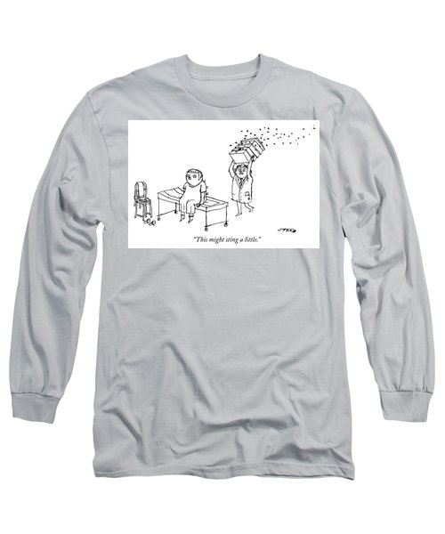 This Might Sting A Little Long Sleeve T-Shirt