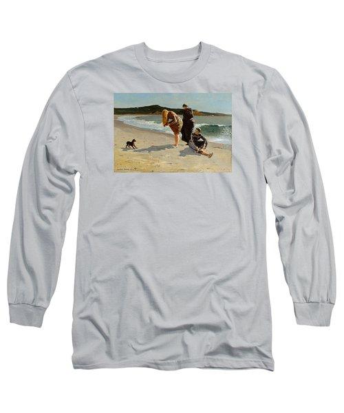 Three Bathers Long Sleeve T-Shirt by  Newwwman