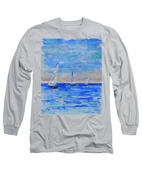 Three Boats Long Sleeve T-Shirt by Jamie Frier