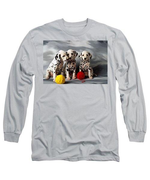 Three Dalmatian Puppies  Long Sleeve T-Shirt