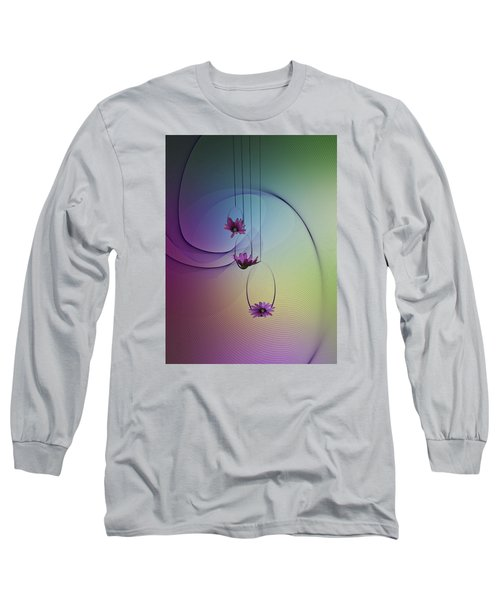 Long Sleeve T-Shirt featuring the photograph Three Swings by Judy Johnson
