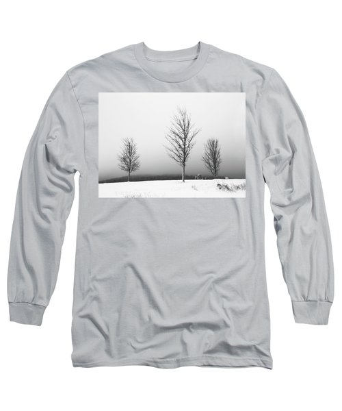 Three Trees In Winter Long Sleeve T-Shirt by Brooke T Ryan