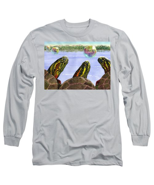 Three Turtles Three Bubbles Long Sleeve T-Shirt