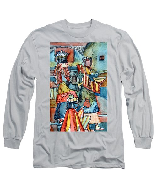 Three Wise Men Long Sleeve T-Shirt by Mindy Newman