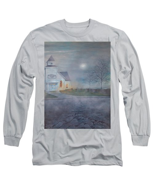 Through The Fog Long Sleeve T-Shirt by T Fry-Green