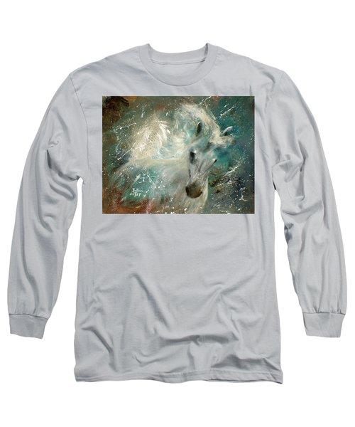 Poseiden's Thunder Long Sleeve T-Shirt by Barbie Batson