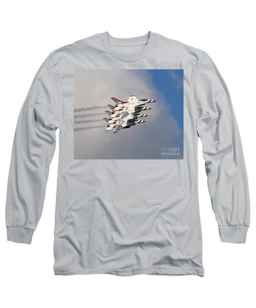 Thunderbirds Stacked Long Sleeve T-Shirt