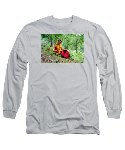 Tibetan Doctor In Lahav Forest Long Sleeve T-Shirt