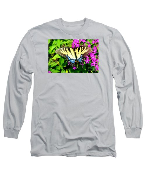 Long Sleeve T-Shirt featuring the photograph Tiger Swallowtail by Lew Davis