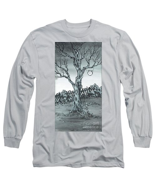 Long Sleeve T-Shirt featuring the painting Time Bandits by Kenneth Clarke