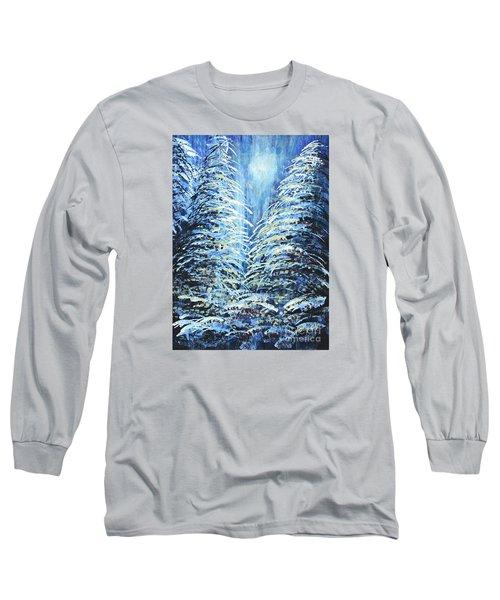 Tim's Winter Forest Long Sleeve T-Shirt