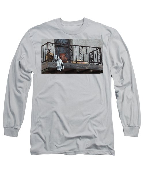 Tiny Southwest Balcony Long Sleeve T-Shirt