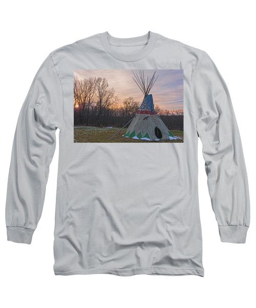 Tipi Sunset Long Sleeve T-Shirt by Angelo Marcialis