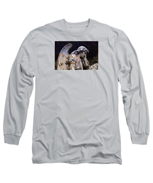 Tired Angel Long Sleeve T-Shirt by Nareeta Martin