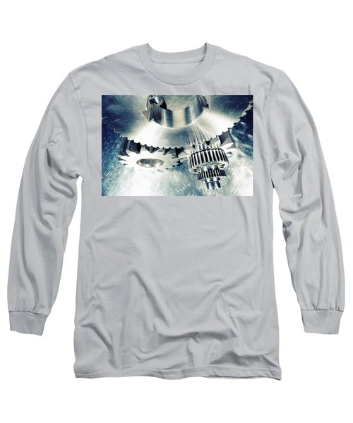 Titanium Aerospace Cogs And Gears Long Sleeve T-Shirt by Christian Lagereek