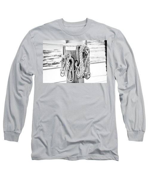 Long Sleeve T-Shirt featuring the photograph To Sail Or Knot by Greg Fortier