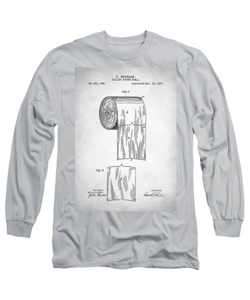 Toilet Paper Roll Patent Long Sleeve T-Shirt by Taylan Apukovska