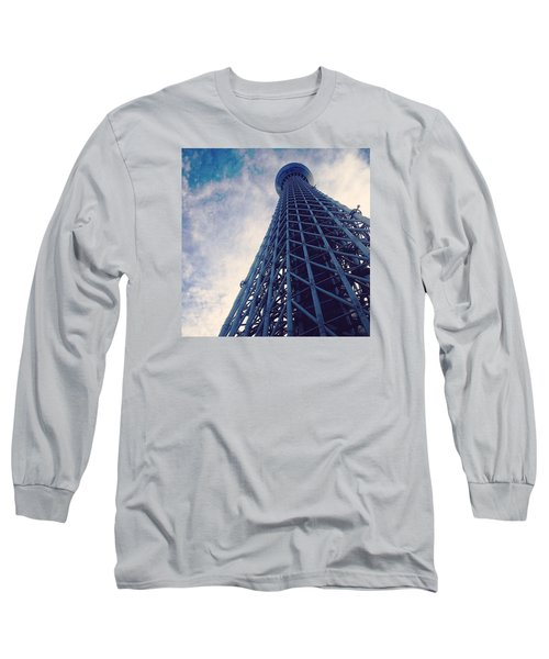 Skytree Tower From The Bottom, Tokyo, Japan Long Sleeve T-Shirt