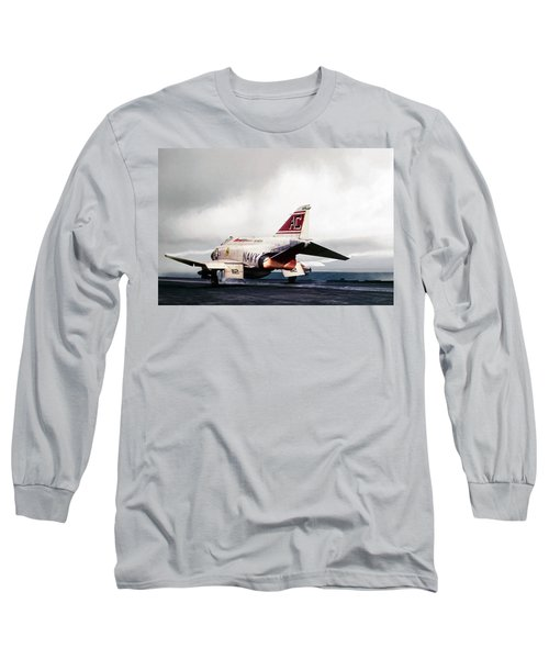Long Sleeve T-Shirt featuring the digital art Tomcatter Launch by Peter Chilelli