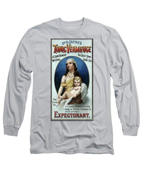 Long Sleeve T-Shirt featuring the photograph Tonic Vermifuge Patent Medicine 1889 by Daniel Hagerman