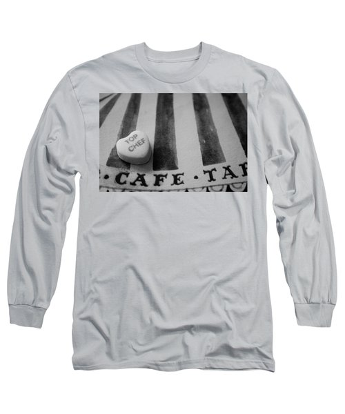 Long Sleeve T-Shirt featuring the photograph Top Chef Candy Heart by Toni Hopper