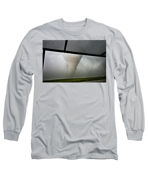 Long Sleeve T-Shirt featuring the photograph Tornado Near Yorkton Sk. by Ryan Crouse