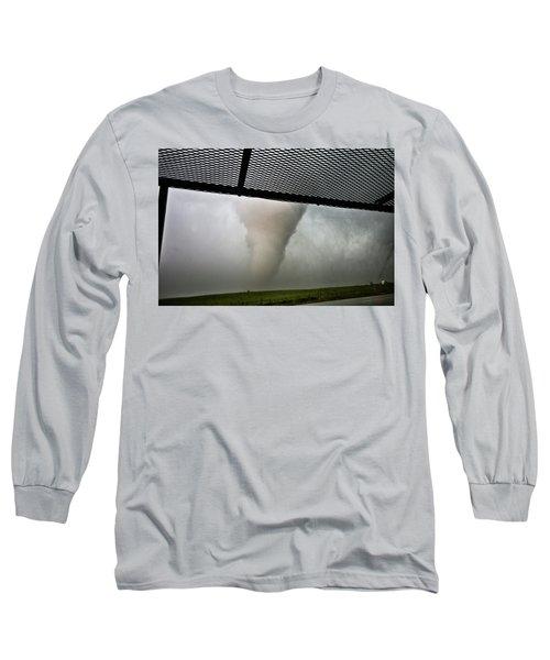 Tornado Near Yorkton Sk. Long Sleeve T-Shirt