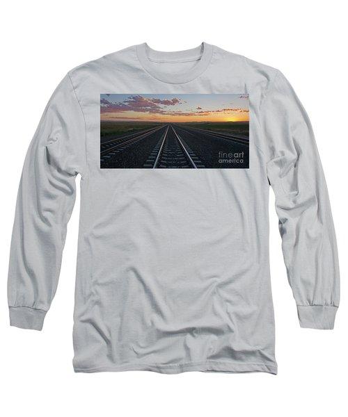 Tracks Into Sunset Long Sleeve T-Shirt