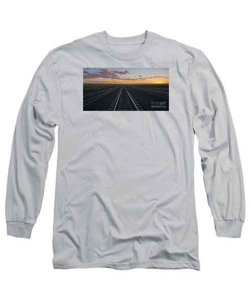 Tracks Into Sunset Long Sleeve T-Shirt