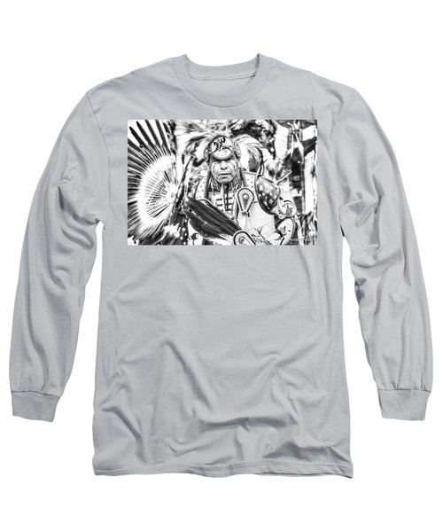 Traditional Dancer  Long Sleeve T-Shirt by Clarice Lakota