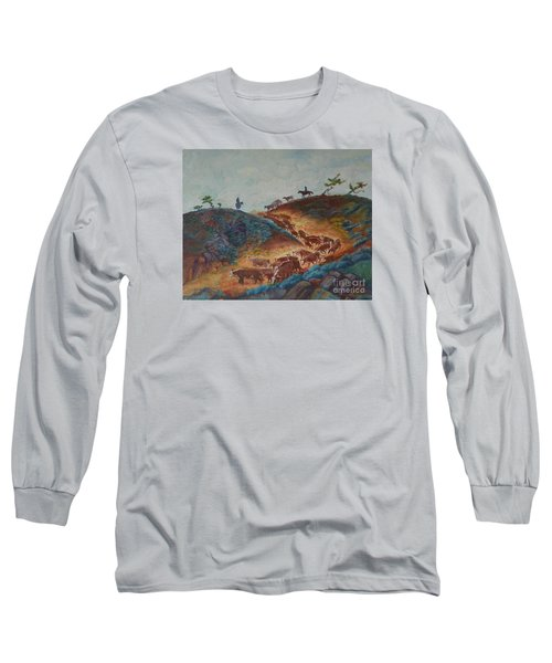 Trailin' Em Down Long Sleeve T-Shirt by Willoughby Senior and Dawn Senior-Trask