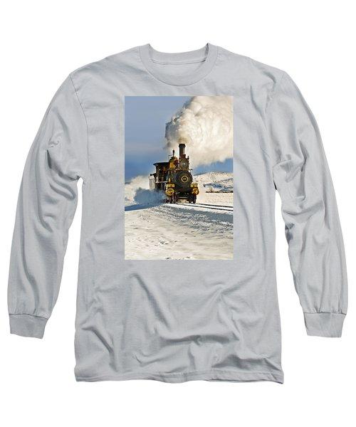 Train In Winter Long Sleeve T-Shirt