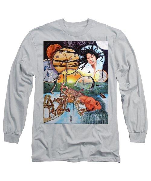 Trampas Del Tiempo Long Sleeve T-Shirt by Jorge L Martinez Camilleri