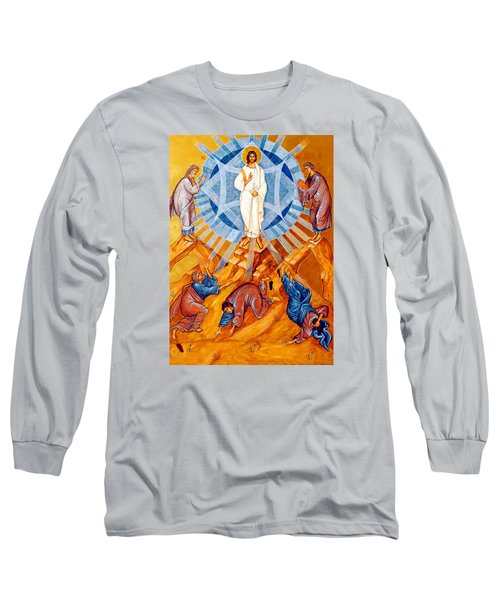 Transfiguration Of Christ Long Sleeve T-Shirt by Munir Alawi