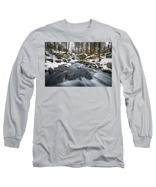 Long Sleeve T-Shirt featuring the photograph Trap Falls Winter by Brian Hale