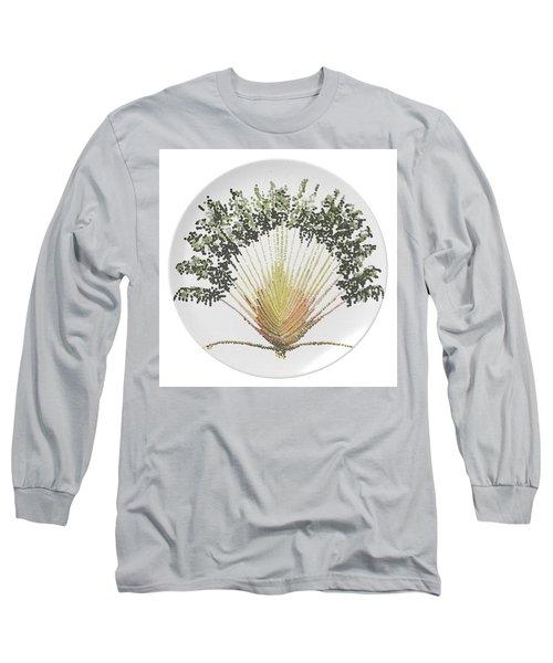 Long Sleeve T-Shirt featuring the digital art Travelers Palm Plate by R  Allen Swezey