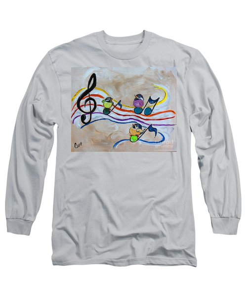Treble Clef Trio Long Sleeve T-Shirt