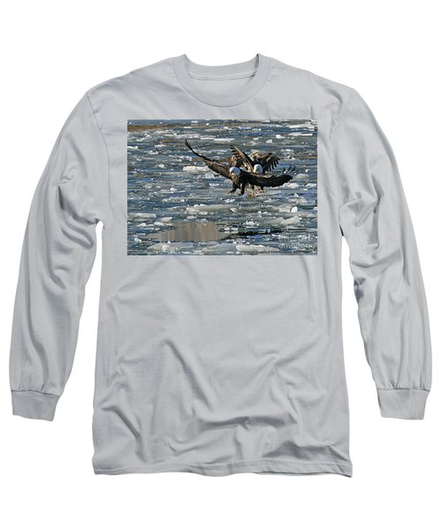 Tree Eagles On Ice Long Sleeve T-Shirt