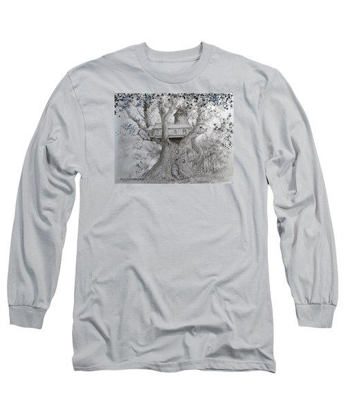 Tree House #2 Long Sleeve T-Shirt by Jim Hubbard