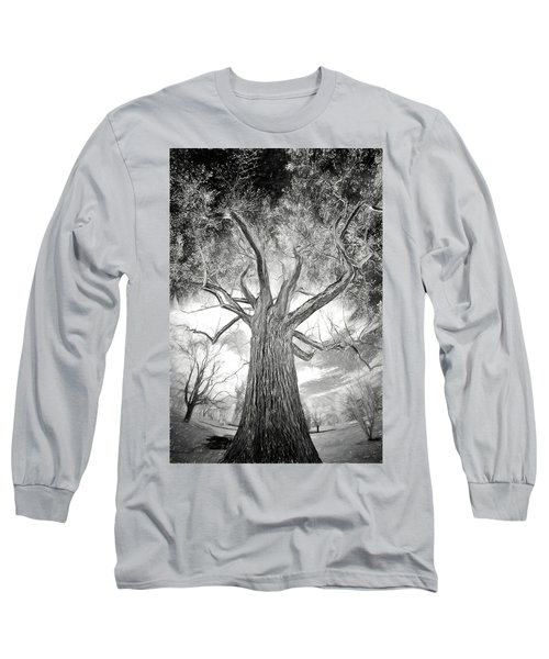 Tree Monster Bw Ap Long Sleeve T-Shirt