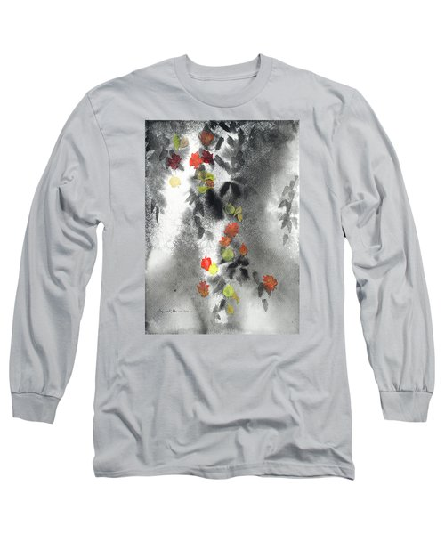 Tree Shadows And Fall Leaves Long Sleeve T-Shirt