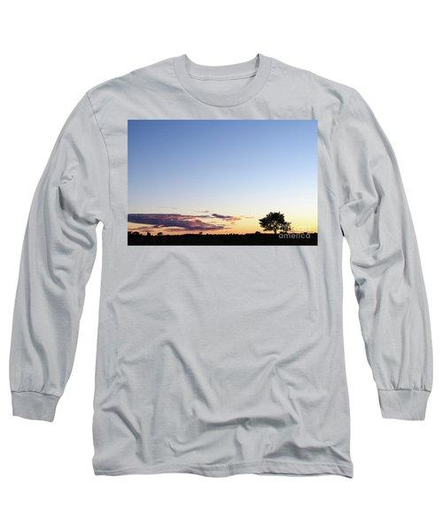 Tree Silhouette By Twilight Long Sleeve T-Shirt by Kennerth and Birgitta Kullman