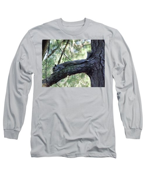 Long Sleeve T-Shirt featuring the photograph  Tree Squirrel by B Wayne Mullins